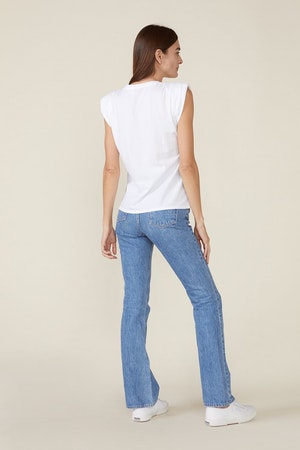 ECHO PADDED SHOULDER TEE - WHITE by St. Roche - 3