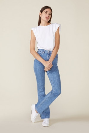 ECHO PADDED SHOULDER TEE - WHITE by St. Roche - 5