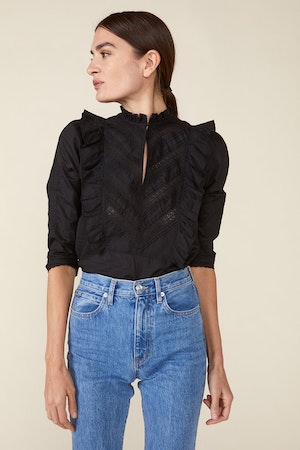 LINDE BLOUSE, BLACK by St. Roche - 2