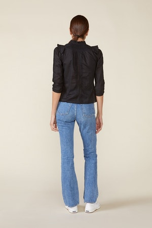 LINDE BLOUSE, BLACK by St. Roche - 3