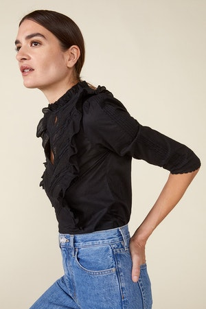 LINDE BLOUSE, BLACK by St. Roche - 4