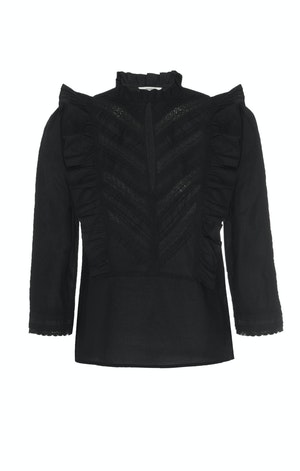 LINDE BLOUSE, BLACK by St. Roche - 1