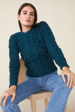 OSSIE SWEATER, TEAL by St. Roche - 1
