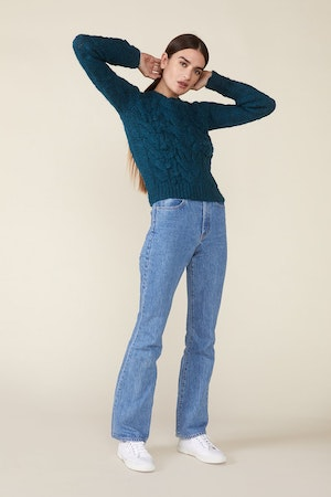 OSSIE SWEATER, TEAL by St. Roche - 3