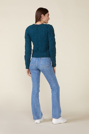 OSSIE SWEATER, TEAL by St. Roche - 2