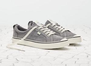 OCA Low Stripe Charcoal Grey Suede Sneaker Women by Cariuma - 5