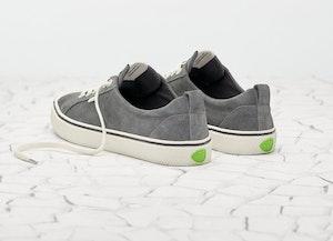 OCA Low Stripe Charcoal Grey Suede Sneaker Women by Cariuma - 4