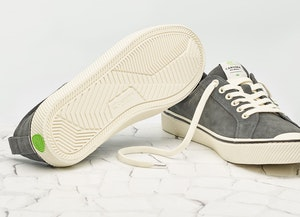 OCA Low Stripe Charcoal Grey Suede Sneaker Women by Cariuma - 6