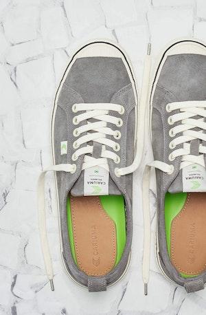 OCA Low Stripe Charcoal Grey Suede Sneaker Women by Cariuma - 3