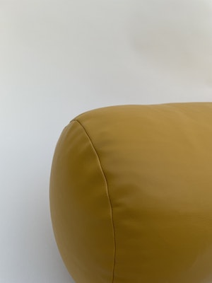 CaSa Vegan Leather Roll Pillow in Mustard by Simon Miller - 3