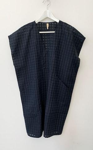 Black Bib Grid pocket tunic-last few by Two - 2