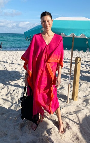 Fuschia and orange caftan-last one! by Two - 4