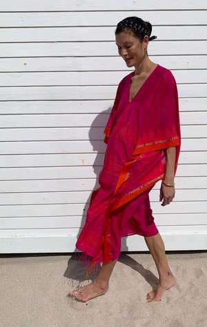 Fuschia and orange caftan-last one! by Two - 3