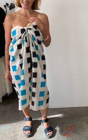 Ikat sarong with color block by Two - 2