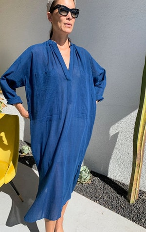 Indigo Two Pocket caftan by Two - 5