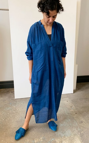 Indigo Two Pocket caftan by Two - 2