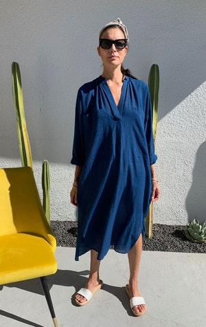 Indigo Two Pocket caftan by Two - 6