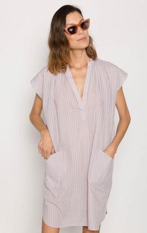 Lavender Khadi stripe Pocket Tunic by Two - 2