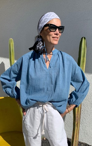Chambray blouse-Now in stock! by Two - 2