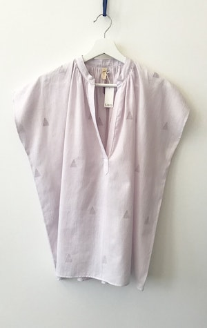 New! Lavender triangle motif Shirt by Two - 2
