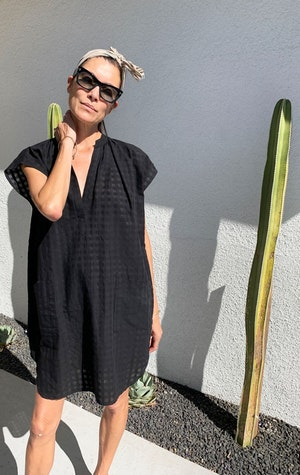 Signature Black Grid Tunic-sold out by Two - 4
