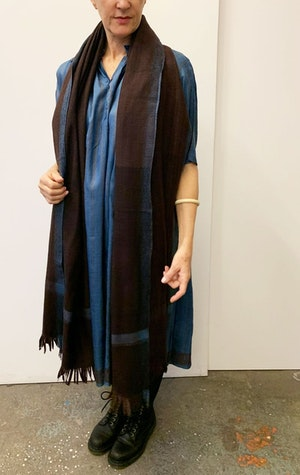 Thick Luxurious wool scarf by Two - 7