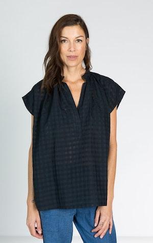 Khadi Grid Shirt by Two - 2