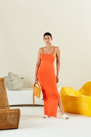 STRETCH Anders Dress in Coral by Simon Miller - 2