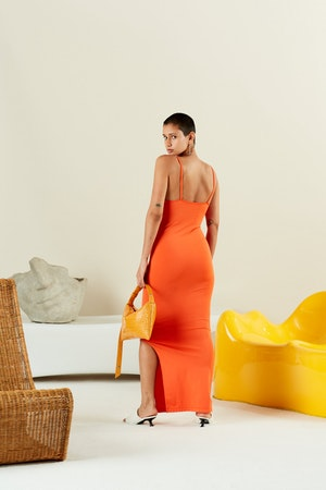 STRETCH Anders Dress in Coral by Simon Miller - 3