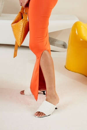 STRETCH Anders Dress in Coral by Simon Miller - 5