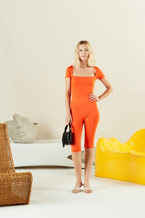 STRETCH Eero Bodysuit in Coral by Simon Miller - 4