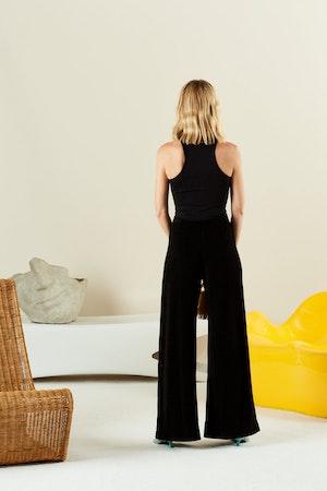 STRETCH Keao Bodysuit in Black by Simon Miller - 3