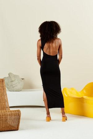STRETCH Lou Dress in Black by Simon Miller - 3
