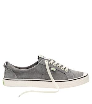 OCA Low Stripe Charcoal Grey Suede Sneaker Women by Cariuma - 1