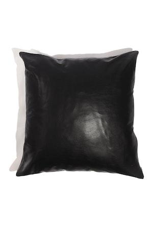 CaSa Vegan Leather Square Pillow in Black by Simon Miller - 1