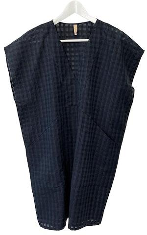 Black Bib Grid pocket tunic-last few by Two - 1