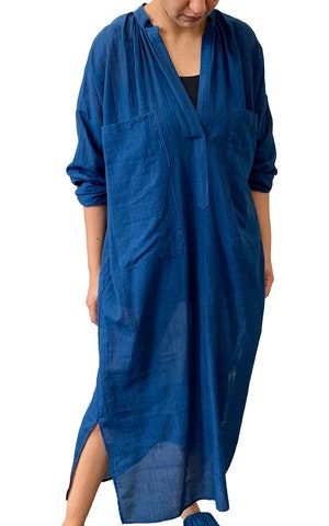 Indigo Two Pocket caftan by Two - 1