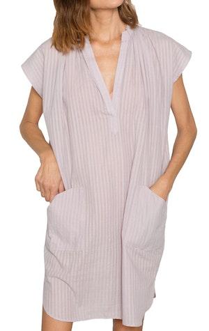 Lavender Khadi stripe Pocket Tunic by Two - 1