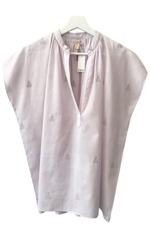 New! Lavender triangle motif Shirt by Two - 1