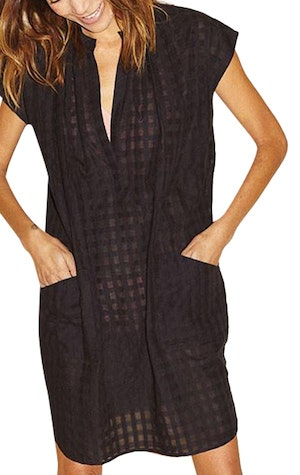 Signature Black Grid Tunic-sold out by Two - 1