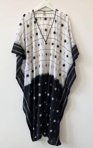 Ikat  V-neck caftan by Two - 1