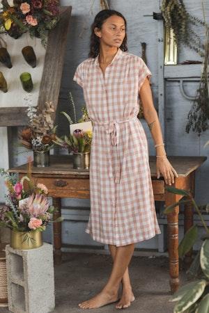 Astrid Easy Dress BLUSH CHECK by Trovata - 3