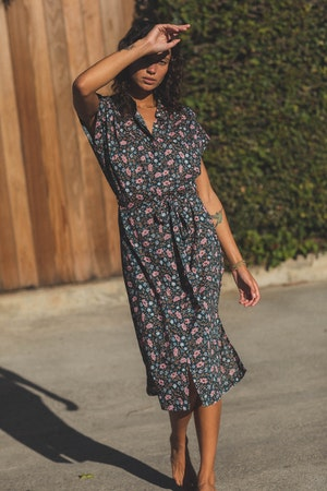 Astrid Easy Dress TEAL FLORAL by Trovata - 1