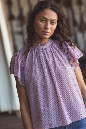 Carla Highneck Shirt RD/WHT/NVY MINI CK by Trovata - 3