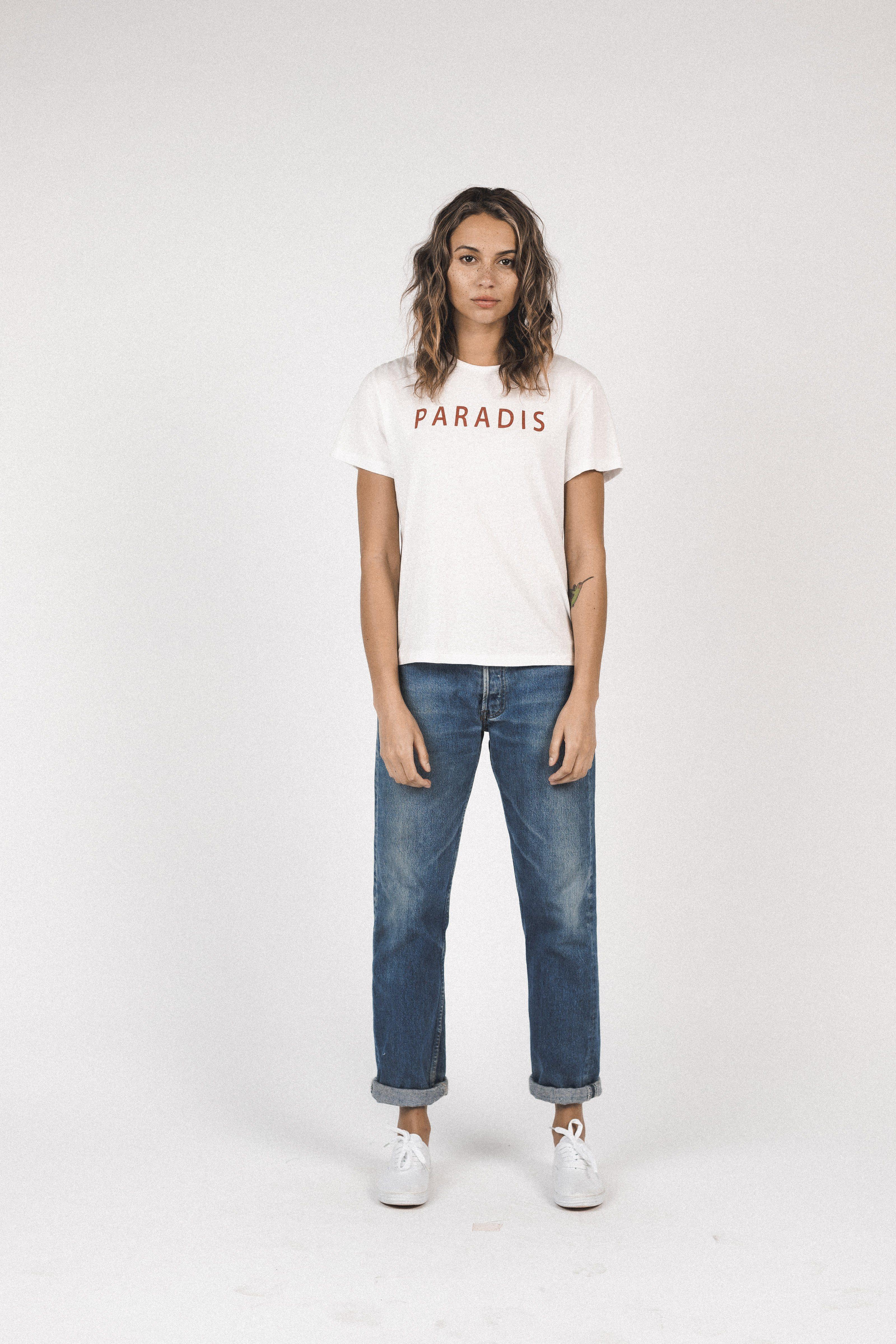 Jett T-Shirt RED WHITE PARADIS by Trovata - 2