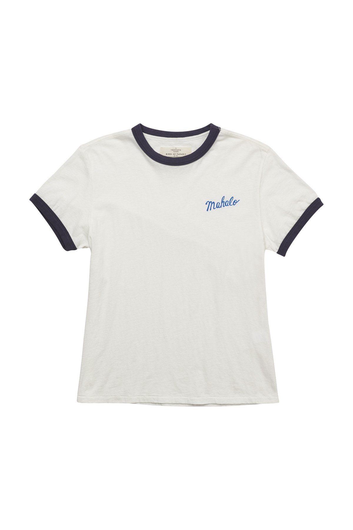 Lennox ringer T-shirt ANT WHITE MAHALO by Trovata - 1