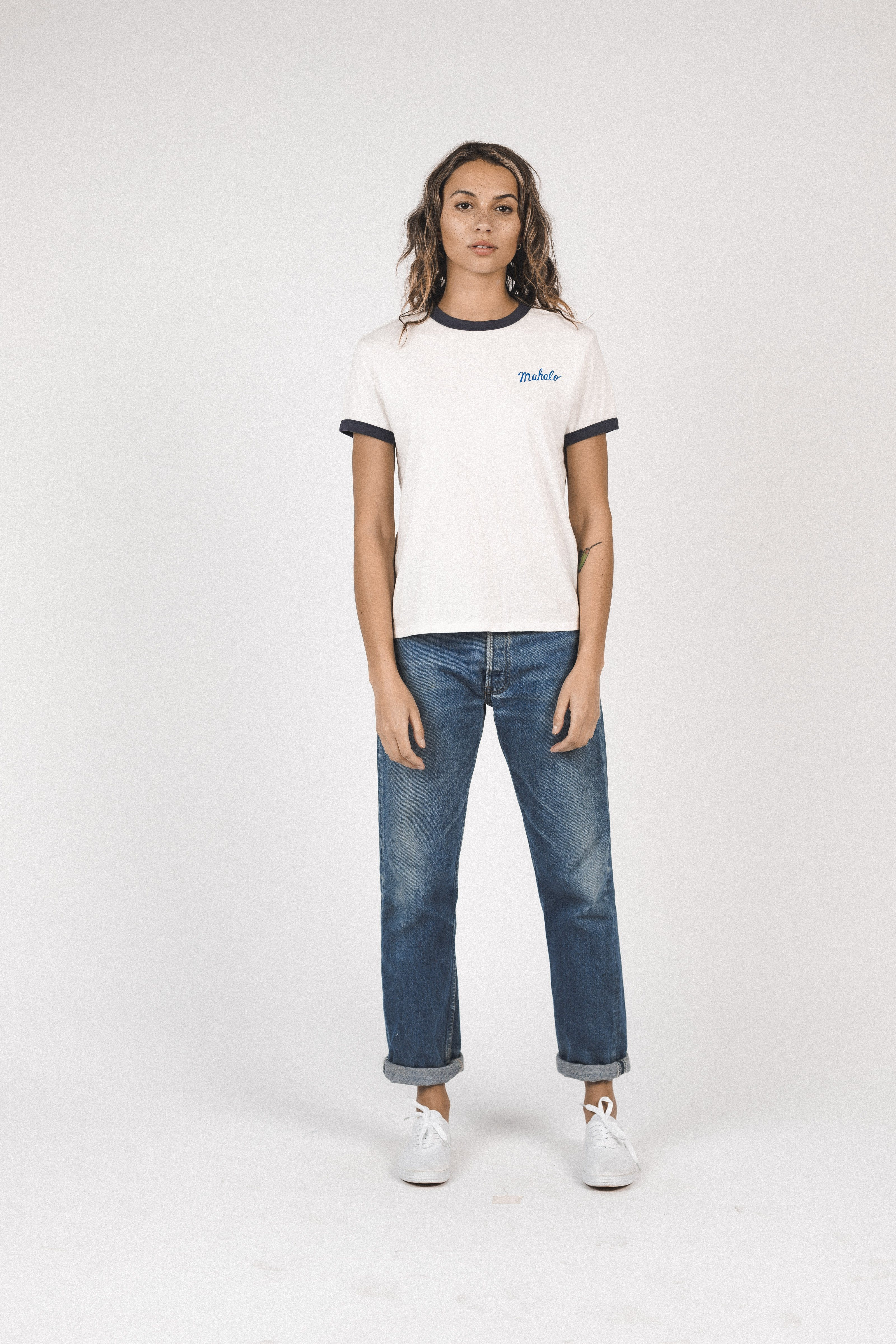 Lennox ringer T-shirt ANT WHITE MAHALO by Trovata - 5