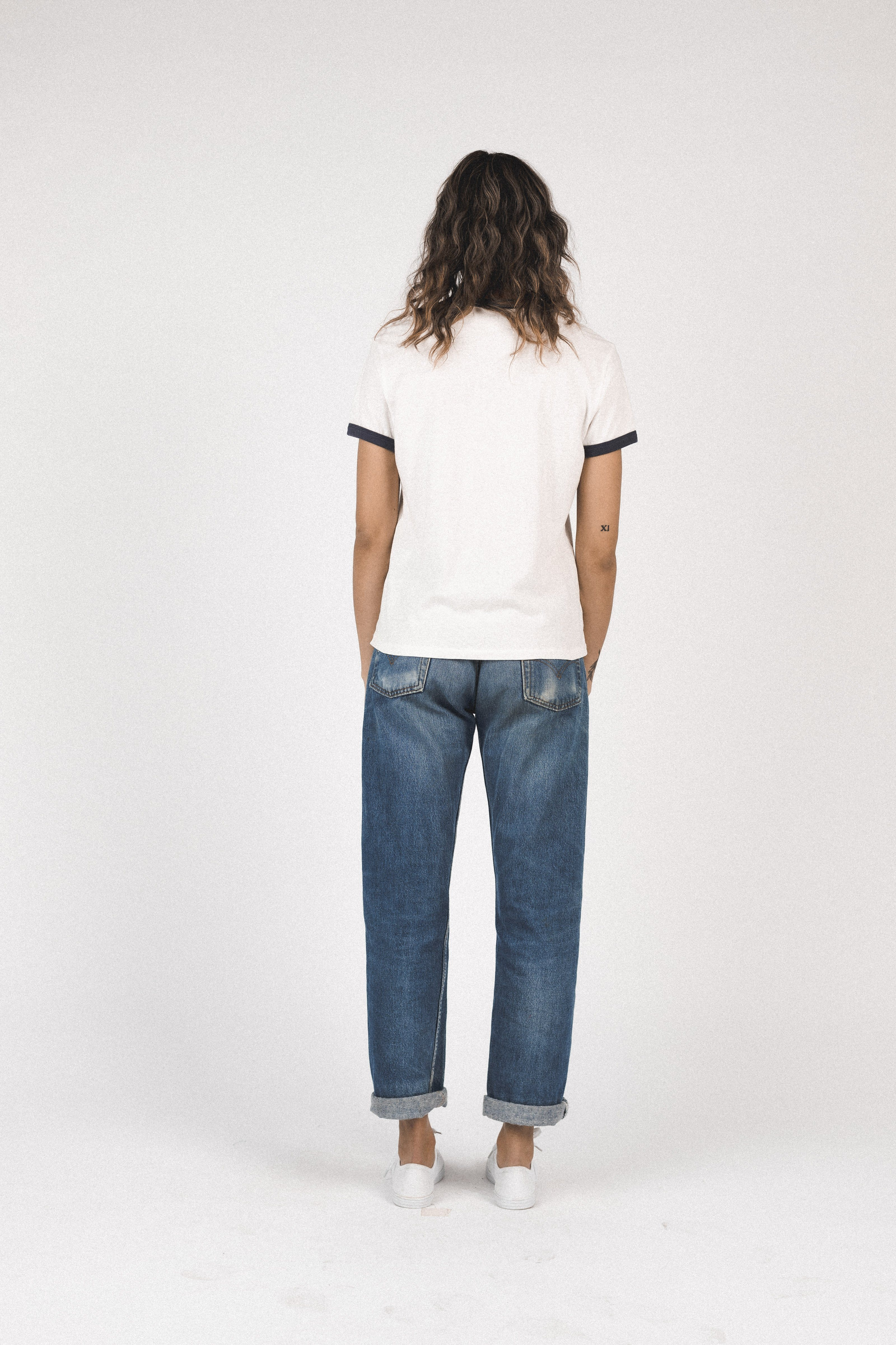 Lennox ringer T-shirt ANT WHITE MAHALO by Trovata - 3