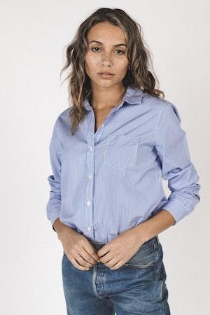 Grace classic shirt BLUE/WHITE STRIPE by Trovata - 1