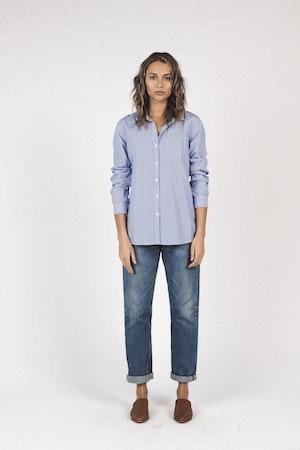 Grace classic shirt BLUE/WHITE STRIPE by Trovata - 2